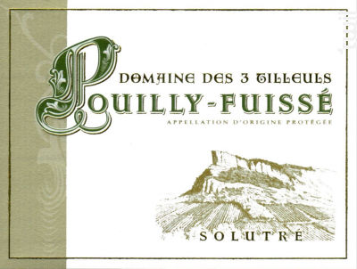 Pouilly Fuissé • Solutré - Domaine des Trois Tilleuls - 2018 - Blanc