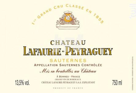 Château Lafaurie-Peyraguey - Château Lafaurie-Peyraguey - 2008 - Blanc