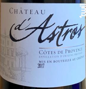 Cuvée Château - Château d'Astros - 2017 - Rouge