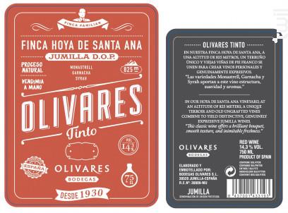 TINTO - BODEGAS OLIVARES - 2018 - Rouge