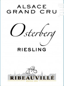 Riesling Grand Cru Osterberg - Cave de Ribeauvillé - 2013 - Blanc