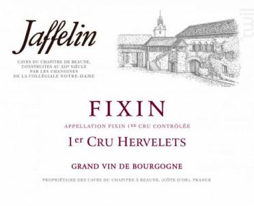 Fixin Premier Cru Les Hervelets - Jaffelin - 2017 - Rouge