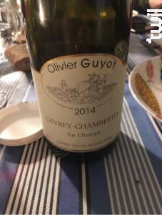 Marsannay La Montagne - Domaine Olivier Guyot - 2014 - Rouge