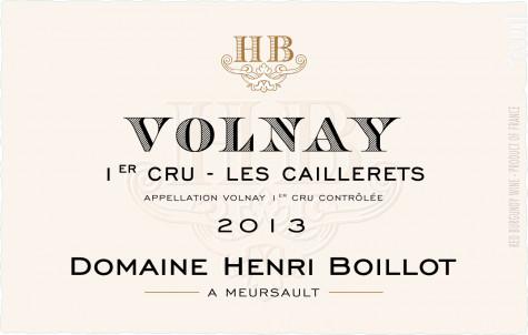 Volnay Premier Cru Les Caillerets - Maison Henri Boillot - 2013 - Rouge