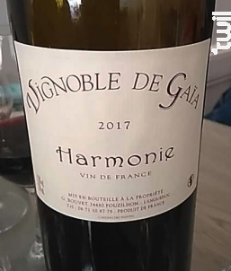 Harmonie - Domaine de Gaïa - 2017 - Rouge