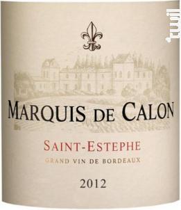 Marquis de Calon - Château Calon Ségur - 2012 - Rouge