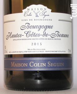 Bourgogne Hautes Côtes de Beaune Excellence - Maison Colin Seguin - 2015 - Blanc