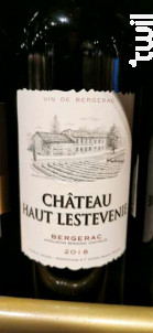 Château Haut Lestevenie - Emmanuel Bichon - 2018 - Rouge
