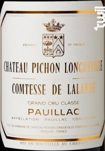 Château Pichon Longueville Comtesse de Lalande - Château Pichon Longueville Comtesse de Lalande - 2015 - Rouge