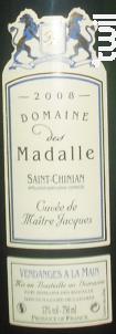 Cuvée Maître Jacques - Domaine des Madalle - 2016 - Rouge