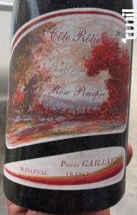 Rose Pourpre - Pierre Gaillard - 2012 - Rouge