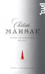 Château Marsau - Château Marsau - 2016 - Rouge