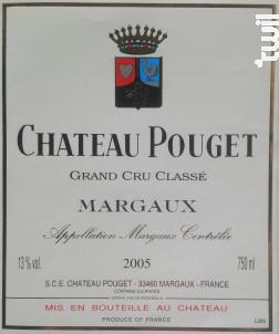 Château Pouget - Château Boyd Cantenac & Château Pouget - 2005 - Rouge