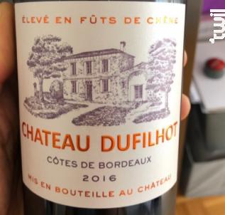 Château Dufilhot - Château Dufilhot - 2017 - Rouge