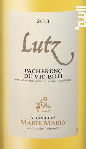Lutz - Vignobles Marie Maria - 2013 - Blanc