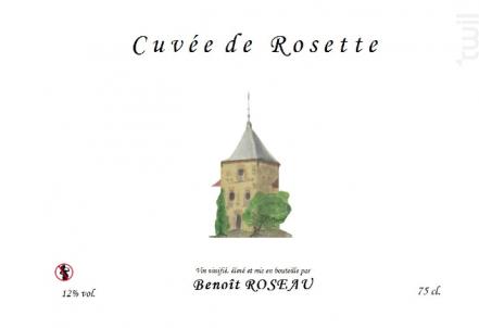 Cuvée de Rosette - Domaine Benoît ROSEAU - Clos du pigeonnier - 2015 - Rouge