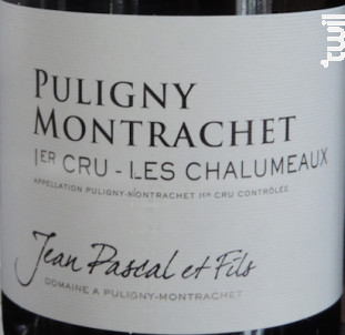 Puligny-Montrachet Premier Cru Les Chalumeaux - Domaine Jean Pascal et Fils - 2017 - Blanc
