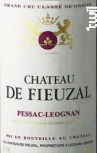 Château de Fieuzal - Château de Fieuzal - 2016 - Rouge