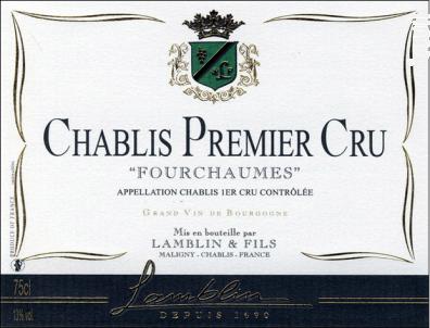 Chablis 1er Cru Fourchaumes - Michel Lamblin et Fils - 2017 - Blanc