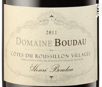 Henri Boudau - Domaine BOUDAU - 2019 - Rouge