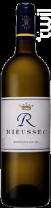 R de Rieussec - Domaines Barons de Rothschild - Château Rieussec - 2017 - Blanc