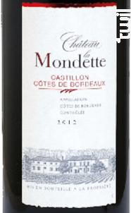 Château la Mondette - Château la Mondette - 2014 - Rouge