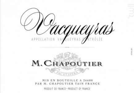 Vacqueyras - Maison M. Chapoutier - 2016 - Rouge