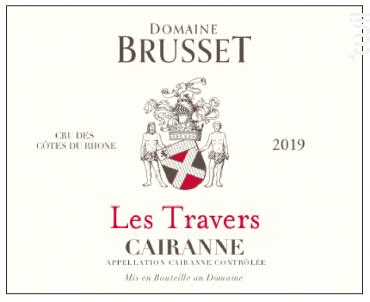 Les Travers - Domaine Brusset - 2018 - Rouge