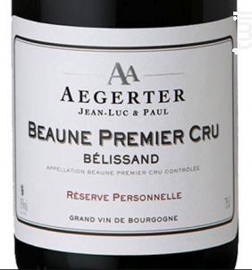 Beaune 1er Cru Bélissand - Jean Luc et Paul Aegerter - 2015 - Rouge