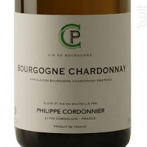 Bourgogne Chardonnay - Domaine Philippe Cordonnier - 2016 - Blanc