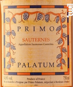 Sauternes - Primo Palatum - 2001 - Blanc