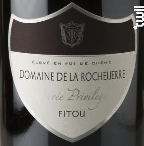 Cuvée Privilège - Domaine de la Rochelierre - 2014 - Rouge