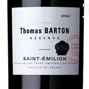 Réserve St-Emilion - Barton & Guestier - 2016 - Rouge