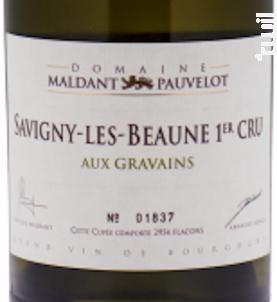 SAVIGNY-LÈS-BEAUNE Premier Cru « Aux Gravains » - Domaine Maldant - Pauvelot - 2009 - Blanc