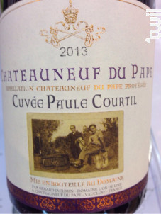Cuvée Paule Courtil - Domaine l'Or de Line - 2013 - Rouge