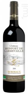 Château Monfort de Larmevaille - Grands Vins De Gironde - 2016 - Rouge