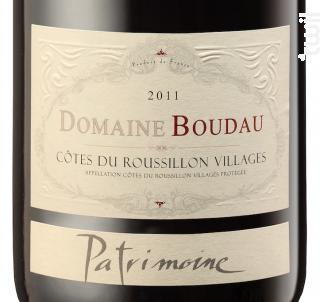 Patrimoine - Domaine BOUDAU - 2016 - Rouge