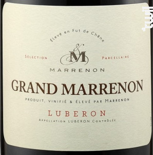 Grand Marrenon - Marrenon - 2018 - Rouge