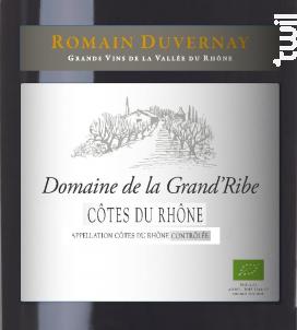 Domaine de la Grand'Ribe - Romain Duvernay - 2016 - Rouge