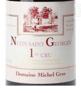 NUITS SAINT GEORGES 1er cru - Domaine Michel Gros - 2016 - Rouge
