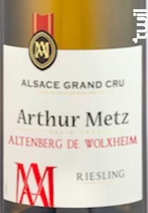 Grand Cru Altenberg de Wolxheim Riesling - Arthur Metz - 2018 - Blanc
