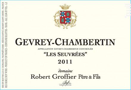 Gevrey-Chambertin Les Seuvrées - Domaine Groffier Robert Père et Fils - 2016 - Rouge