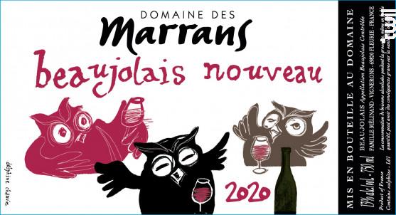 Beaujolais Nouveau - Domaine des Marrans - 2020 - Rouge