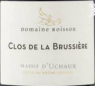 Clos de la Brussiere - Domaine Boisson - 2015 - Rouge