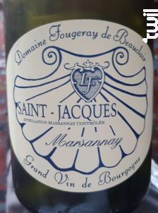 Marsannay Saint Jacques - Domaine Fougeray de Beauclair - 2015 - Rouge