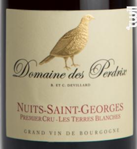 Nuits-Saint-Georges Premier Cru Terres Blanches - Domaine des Perdrix - 2014 - Rouge