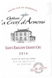 Château la Croix d'Armens - Château La Croix d'Armens - 2016 - Rouge