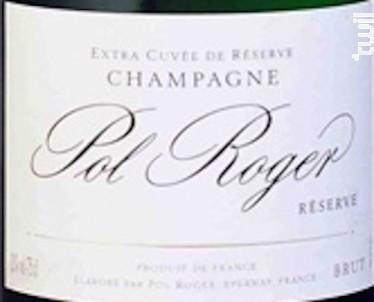 Pol Roger Brut Reserve - Champagne Pol Roger - Non millésimé - Effervescent