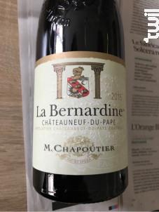 La Bernardine - Maison M. Chapoutier - 2015 - Rouge