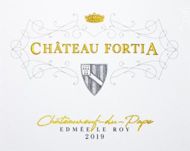 Edmée Le Roy - Château Fortia - 2019 - Blanc
